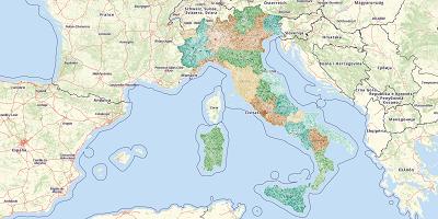 Gemeentekaart Italië 2017