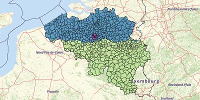 Municipalities Belgium 2017