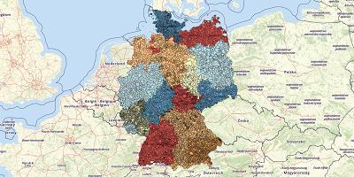 Gemeentekaart Duitsland 2017