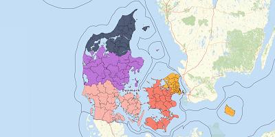 Gemeentekaart Denemarken 2017