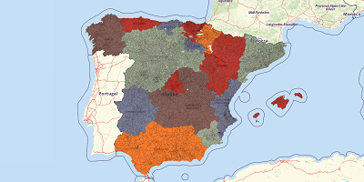 Gemeentekaart Spanje 2017