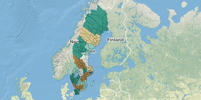 Gemeentekaart Zweden 2017