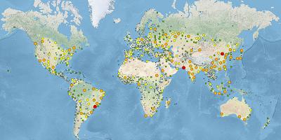 Wereldsteden wereldwijd