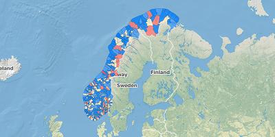 Bevolking per gemeente Noorwegen