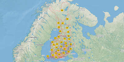 2-digit postal codes Finland