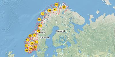 2-digit postal code Norway