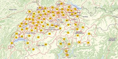 2-cijferige postcode Zwitserland