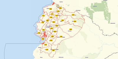 3-digit postal code Ecuador