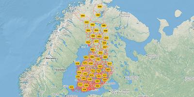 3-cijferige postcode Finland