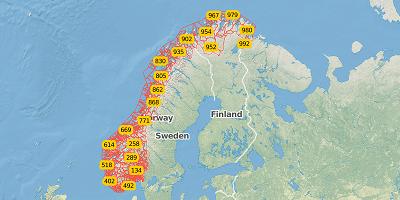 3-digit postal code Norway