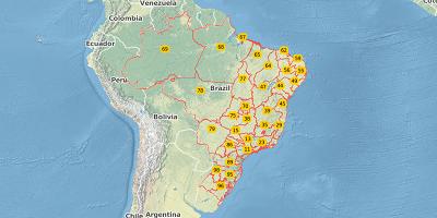 2-digit postal code Brazil