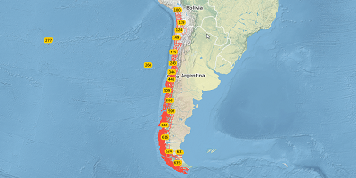 3-stellige Postleitzahlen Chili