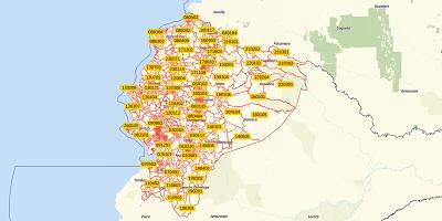 6-stellige Postleitzahlen Ecuador