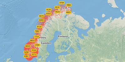 4-digit postal code Norway