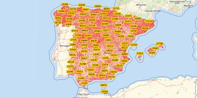 5-stellige Postleitzahlen Spanien