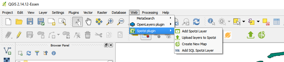 Add Spotzi Layer into QGIS