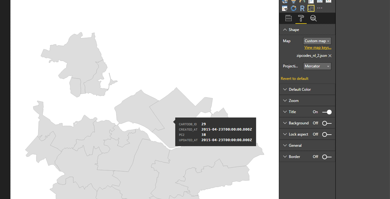 Import a Shapefile into Power BI