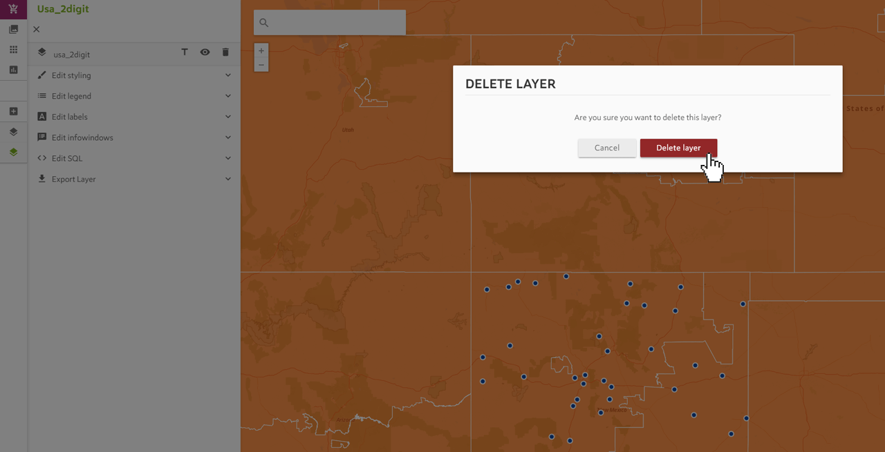 Delete Map Layer