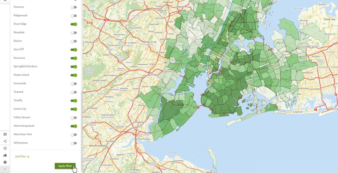 Text Map Filter