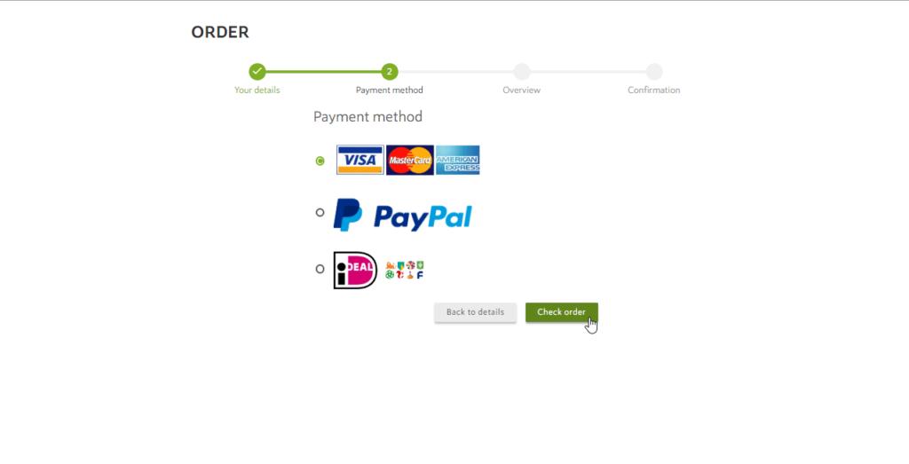 Creditcard Payment Spotzi